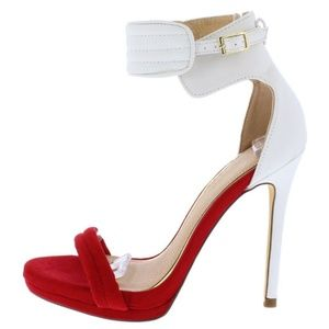 Women Red White Platform Sexy Stiletto Heel
